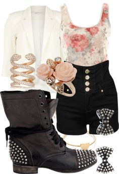 """"""".laces.rebel."""" by savannah-rogers ❤ liked on Polyvore"""