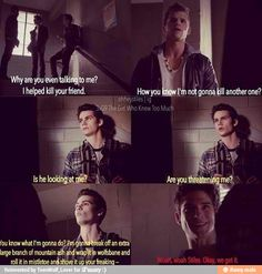 Teen Wolf / Stiles trying to intimidate a werewolf...good try dude