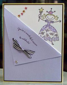 Carte d'anniversaire Stampin Up jolie princesse par WhimsyArtCards