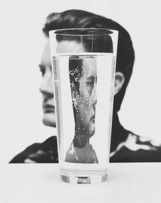 Kyle MacLachlan by John Midgley A w 2016 nowe Twin Peaks! Distortion Photography, Reflection Photography, Water Photography, Creative Photography, Portrait Photography, Fashion Photography, Distortion Art, Kyle Maclachlan, Photo Star