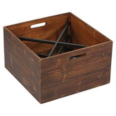 49.   Wood and iron wine box.   Product: Wine boxConstruction Material: Wood and ironColor: Brown