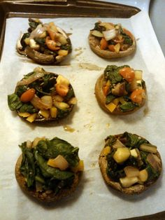 In the Kitchen & On the Run: TLS Detox Week 1: Stuffed Mushrooms THESE ARE THE BEST (and GREAT for Detox week)