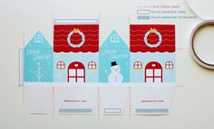 Printable House Boxes (Christmas and no occasion) | DESIGN IS YAY