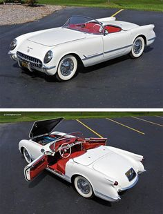 First year for the Corvette, when only 300 were built - 1953 Chevrolet Corvette. First year for the Corvette, when only 300 were built 1953 Chevrolet Corvette. First year for the Corvette, when only 300 were built. Retro Cars, Vintage Cars, Antique Cars, Vintage Photos, Chevrolet Corvette Stingray, 1958 Corvette, Maserati, Bugatti, Ferrari