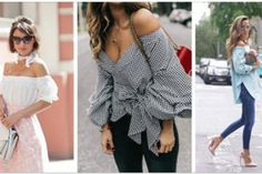 Copy these outfits! These 25 outfits show how to wear ruffled sleeve tops + blouses and look amazingly stylish this Summer! Style Outfits, Mode Outfits, Fashion Outfits, Womens Fashion, Fashion Trends, Edgy Outfits, Cute Casual Outfits, Casual Wear, Beauty And Fashion