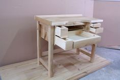 Work table for American walnut solid wood jewelers … – Table Ideas Jewellers Bench, American Walnut, Metal Working, Solid Wood, Furniture Design, Stool, Minimalist, Jewels, Table