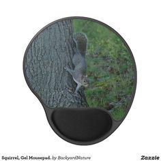 Squirrel, Gel Mousepad. Gel Mouse Pad