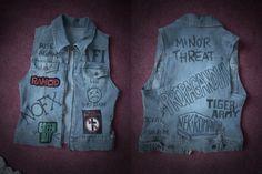 Punk vest by MissNeurotic.deviantart.com on @deviantART
