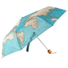 World map childrens umbrella vintage globe and free uk vintage map design umbrella blue map nylon umbrella complete with s gumiabroncs Gallery