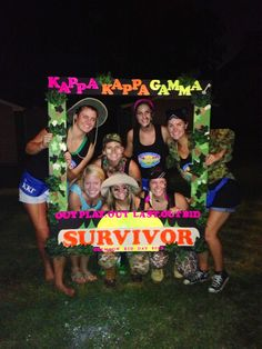 Clemson, Epsilon Mu Chapter so cute! Survivor Theme, Survivor Games, Survivor Party, Bid Day Themes, Beach Themes, Recruitment Themes, Camo Party, Twins 1st Birthdays, Welcome To The Party