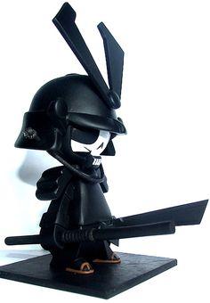 Samourai king - black death Samourai by Vinyl Toys, Vinyl Art, Sculpture Metal, Black Death, Vinyl Figures, Action Figures, 3d Prints, Designer Toys, Cultura Pop