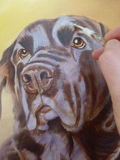 how to paint dog acrylics first colour layers