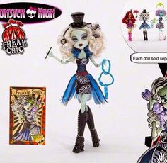 Margret London Art Awesomeness: New Monster High Doll Lines Freak Chic,Boo York,Gh...