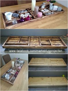 Tray made of recycled pallet wood | 1001 Pallets ideas ! | Scoop.it