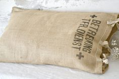 Military burlap pillowcover