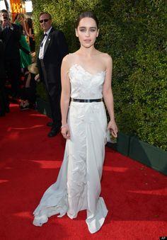 Emilia Clarke at the Emmys 2013