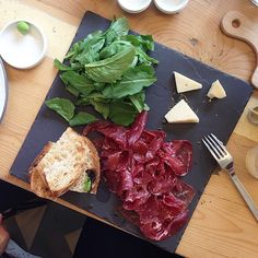 Wagyu Bresaola on a Slate with Parmigiano Arugula & Toast on the menu today at our #MTFshop! You can also try our Black-Cod Donburi Wagyu Beef Tataki Ahi Tuna Carpaccio Salad & Purslane Merguez-Dogs Ikurado Tuna Sandwich Salmon Belly Sashimi Twice & more! #meatthefish #beef #wagyu #bresaola #parmigiano #ahituna #salad #purslane #blackcod #blackrice #donburi #tataki #ikura #salmon #tuna #sandwich #food #lunch #saifivillage by meatthefish