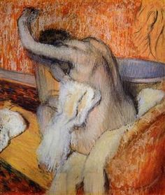 After The Bath, Woman Drying Herself Artwork By Edgar Degas Oil Painting & Art Prints On Canvas For Sale Edgar Degas, Degas Paintings, Cheap Paintings, Impressionist Artists, Edouard Manet, Painting Gallery, Oil Painting Reproductions, Paul Cezanne, Woman Painting