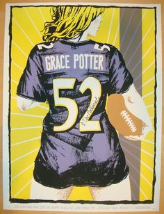 2013 Grace Potter - Baltimore Concert Poster by Fugscreens