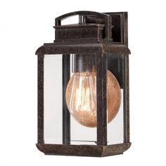 Bronze exterior light in a traditional style perfectly suited to period homes. The smaller of the range the box shaped glass garden wall light is a delightful addition to the front of the home but looks equally great as a patio or passage way lights