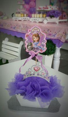 Centro de mesa princesa Sofia con corona