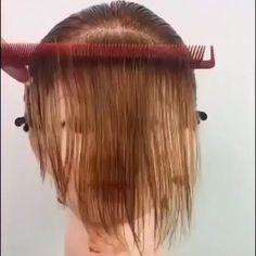 Hair Cutting Videos, Hair Cutting Techniques, Hair Color Techniques, Hair Videos, Makeup Videos, Easy Hairstyles For Long Hair, Hairstyles With Bangs, Diy Hairstyles, Bangs Hairstyle