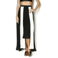 Moon Collection Pleated Maxi Skirt