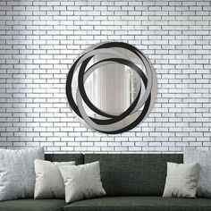 """Artistic Products Breeze Point Wall Mirror Size: 30"""" H x 30"""" W x 0.19"""" D"""