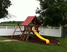 Playground using Perfect Rubber Mulch and bendable rubber curbs.