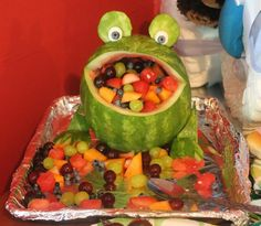 If I ever have children, they better get used to getting different fruit animals like this at every single birthday party.