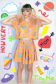 Dinorama Skirt - Size S
