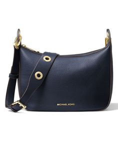Michael Kors Admiral Raven Medium Leather Messenger Bag | zulily
