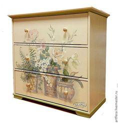 """Купить Комод """"Старые розы"""" - комод, комодик, Мебель, мебель из дерева, мебель в…"""