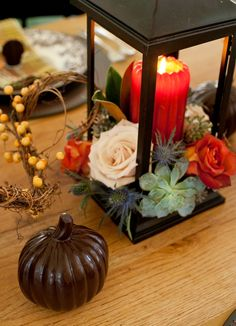 Chocolate pumpkin - an edible table decoration