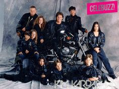 The Kardashians and Jenners posed for a joint family Christmas card one year with motorcycles.