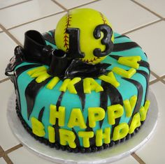 softball cakes | Softball Birthday Cake »