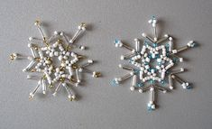 Beaded Snowflakes http://www.ecrafty.com/casearch.aspx?SearchTerm=snowflake