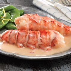 Lobster Gram Butter Poached Lobster Tails - 4 So flavorful and easy to prepare! The whole lobster tail meat from two 6 Maine lobster tails are poached in a wonderfully rich butter sauce. Cooked in a vacuum pouch this Lobster Dishes, Lobster Recipes, Fish Dishes, Seafood Recipes, Cooking Recipes, Lobster Gram, Lobster Fest, Prawn Recipes, Dining