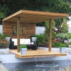 70 Different Design Ideas for Patio Gazebo Design Wood, Design Café, Design Ideas, Backyard Garden Landscape, Pool Landscaping, Design Hotel, Best Interior Design, Interior Design Living Room, Home Decor Catalogs