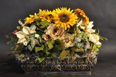 7 best silk flowers by the twisted tulip images on pinterest sunflower centerpiece by the twisted tulip denver co thetwistedtulip mightylinksfo