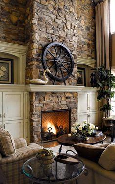 stone fireplace #11