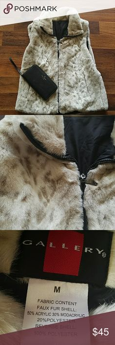 🍁Gallery🍁Nordstrom Faux fur vest Perfect condition! An absolute must have! Gallery Jackets & Coats