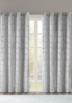 Living Room Decor Curtains, Home Curtains, Modern Curtains, Window Curtains, Curtains For Sliding Doors, Curtains With Grey Walls, Family Room Curtains, Curtains For Grey Walls, Silver Curtains