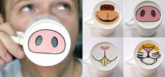 For the animal lover: 35 Awesome Mugs Every Coffee Lover Will Appreciate Sharpie Crafts, Sharpie Art, Sharpie Projects, Sharpies, Sharpie Doodles, Funny Coffee Mugs, Coffee Art, Coffee Time, Coffee Cups