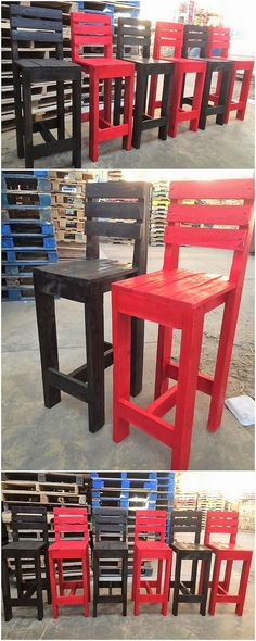 Sometimes the wood pallet is best used in favor of the wood pallet chairs option too. You can do it easily if you have already encountered some extra pieces of wood pallets in your house. You just need to long planks arrangement that adds upon the crafting of chair design.