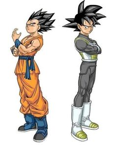 Swapped putfits! Dang! - Visit now for 3D Dragon Ball Z shirts now on sale!