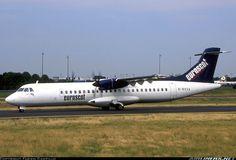 ATR 72-202, Euroscot Express (leased from Gill Airways), G-BXXA, cn 301, 66 passengers, first flight 29.4.1992 (Air Tahiti), Euroscot delivered 17.8.1998. Foto: Paris, France, 10.7.1999. Foto Paris, Air Tahiti, Atr 72, Paris France, Aircraft, Vehicles, Planes, Aviation, Car