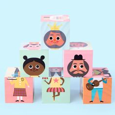 Busy Careers Preschool Cube Puzzle Game Wooden Block Puzzle, Wooden Puzzles, Wooden Blocks, Screen Time For Kids, Steam Toys, Funny Expressions, Cube Puzzle, Travel Toys, Kid Character