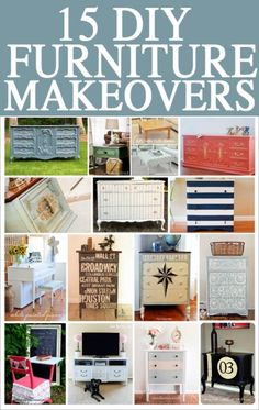 15 DIY furniture makeovers! Dresser subway art with cities we've traveled to?