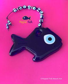 Fish Evil Eye Good luck charm Talisman Fish by hippiefishbeachart